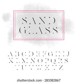 "Vector high contrast font ""Sandglass"". High quality design element"