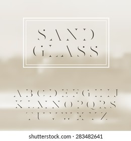 "Vector high contrast font ""Sandglass"". High quality design element"