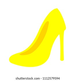 vector high heel shoes isolated, fashion design silhouette illustration