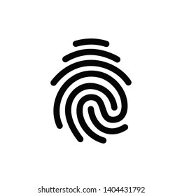 Vector high quality fingerprint line icon isolated on white background. Security access concept