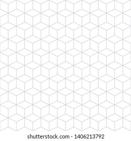 Vector high quality seamless subtle pattern. Modern stylish abstract texture. Repeating geometric tiles from cubic elements