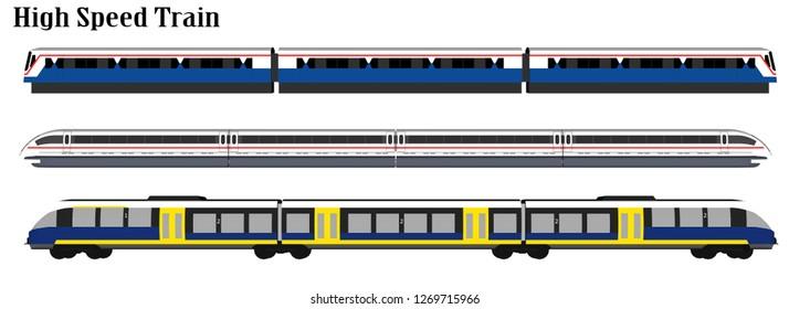 Vector, high speed train set pattern