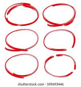 vector highlighter circles