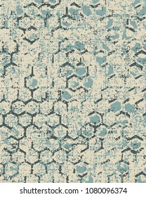 vector Highly detailed abstract texture or grunge background. For art texture, grunge design, and vintage paper or border frame, modern honeycomb pattern for carpet, rug, scarf, clipboard , shawl