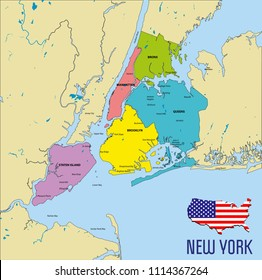 Detailed Map Of New York.Manhattan Map Images Stock Photos Vectors Shutterstock