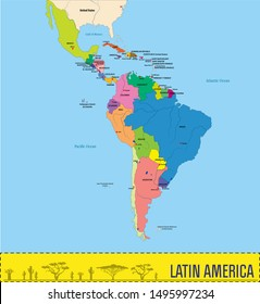 South America Separated Countries Images, Stock Photos ...