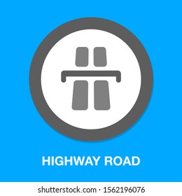 vector highway road, street sign - traffic abstract symbol