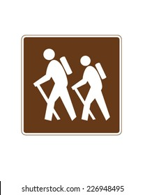 Vector hiking signage
