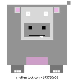 Vector hippo are made of squares and rectangles