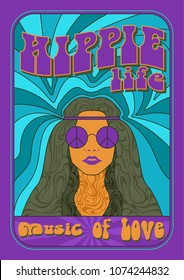 Vector Hippy Style Poster