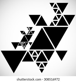 Vector Hipster Triangle Background . Pattern  . Abstract modern Geometrical Design Template .