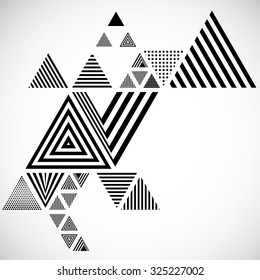 Vector Hipster Triangle Background . Pattern  . Abstract modern Geometrical Design Template .angular shapes.