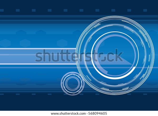 Vector hi-tech background in blue color