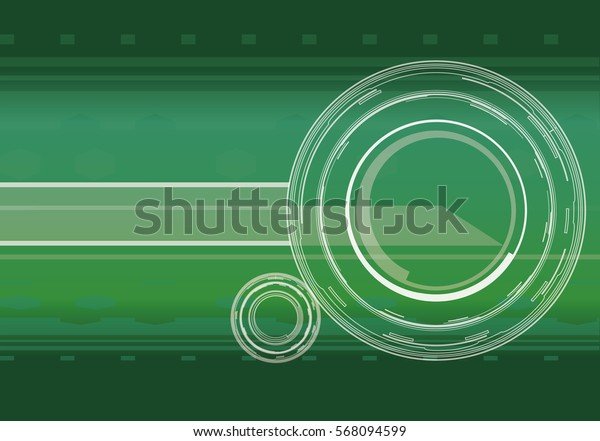 Vector hi-tech background in green color