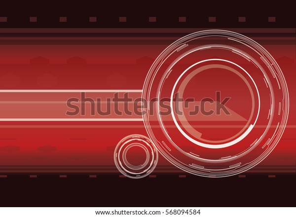 Vector hi-tech background in red color