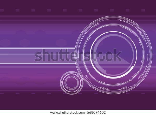 Vector hi-tech background in violet color