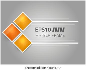 Vector hi-tech frame for your design