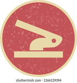 Vector Hole Puncher Icon