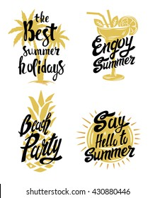 vector holiday background with hand made text