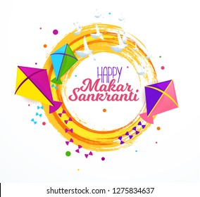 vector holiday illustration. Makara Sankranti or Sankranti. Hindu harvest festival, celebrated at the winter solstice. graphic design for posters, flyers, cards, brochures, covers.