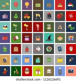 vector holiday, summer, travel vacation and christmas icons. hotel, travel and tourism sign symbols