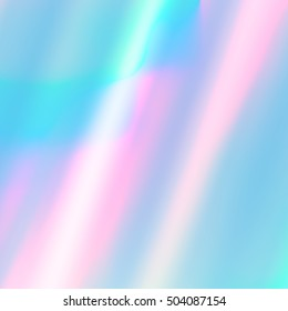 Vector holographic abstract background. Holographic foil texture for your design