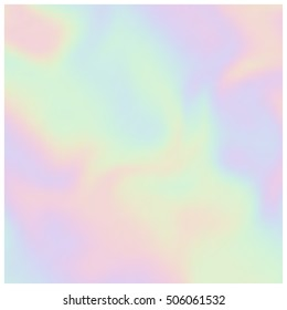 Vector holographic background. Pearlescent texture. Design element in pastel hues.