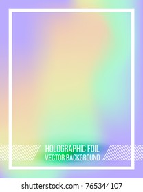Vector holographic gradient template. Empty blank template for cover, presentation, brochure or background. Easy to modify and resize. Made using full vector gradient mesh tool
