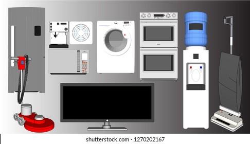 Vector home appliances