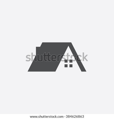 Vector Home Roof Icon Stock Vektorgrafik Lizenzfrei 384626863