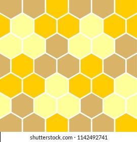 Vector Honey Background, Yellow and Orange Hexagons vector eps 10