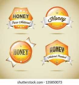 Vector Honey Label Collection