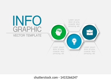 Vector honeycomb infographic diagram, template for business, presentations, web design, 3 options.