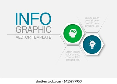 Vector honeycomb infographic diagram, template for business, presentations, web design, 2 options.