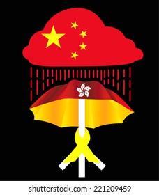 Vector of Hong Kong Umbrella freedom