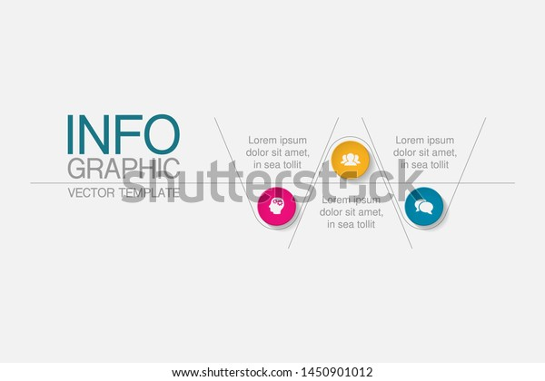 Vector Horizontal Infographic Diagram Template Business