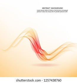 Vector horizontal wave with shadow. Brochure template