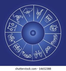 vector horoscope