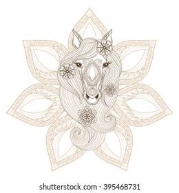 Horse Ornate Stock Vectors, Images & Vector Art   Shutterstock