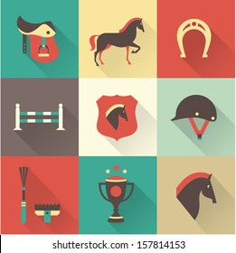 Vector Horse icons set