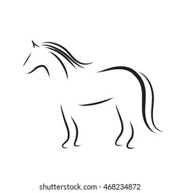 Vector horse logo on a white background.