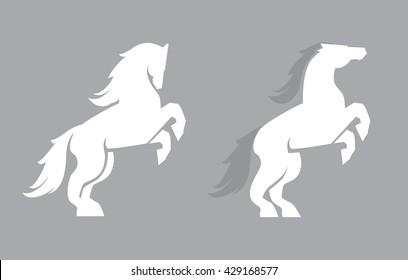 Vector horse logo template. Horse icon art.