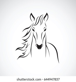 Vector of a horse on white background. Wild Animal