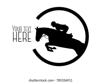 A vector horse show jumping logo. Isolated so you can change the color or add your own text!