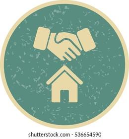 Vector Hosue Deal Icon