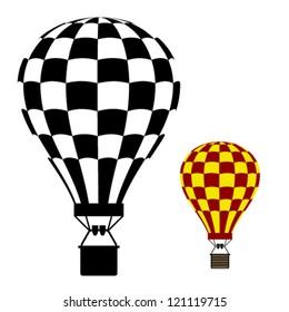 vector hot air balloon black symbol