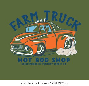 vector hot rod comic cars illustration for t shirts print