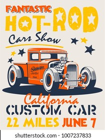 vector hot rod illustration