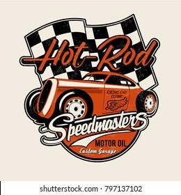 vector hot rod illustration