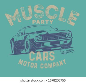 vector hot rod race car illustration for tshirt print